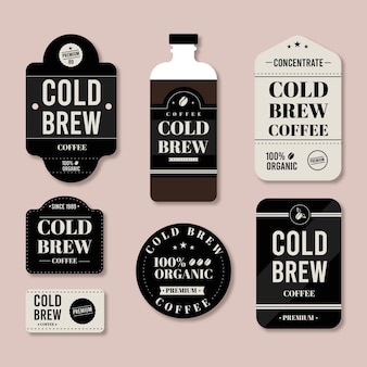 Cold brew koffie labels-collectie