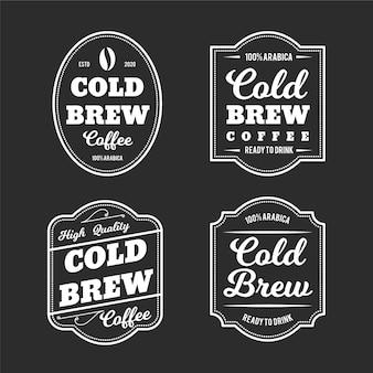 Cold brew koffie labels-stijl