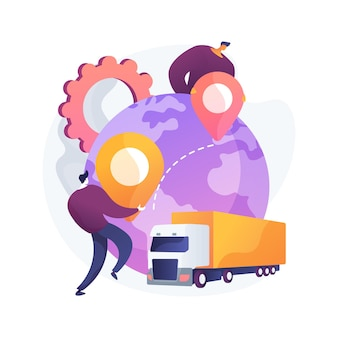Collaboratieve logistiek abstracte concept illustratie