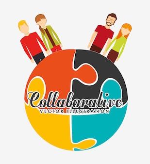 Collaborative concept illustratie