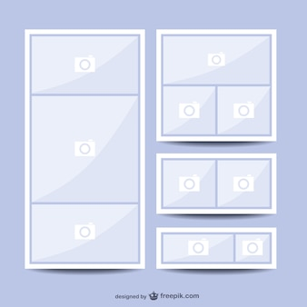 Collage foto lay-out vector