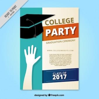 Collage partij brochure met afstuderen cap
