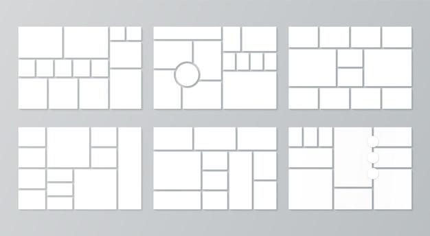 Collage raster moodboard-sjablonen moodboard fotomontage foto's lay-out