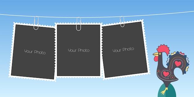 Collage van fotolijsten