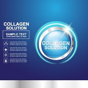 Collageen en vitamine voor huidconcept