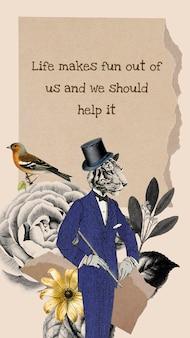 Collagesjabloon sociale verhaalvector, vintage digitale collagekunst