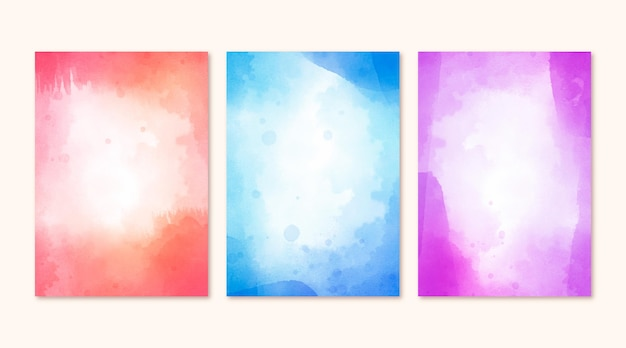 Collectie abstracte aquarelomslagen