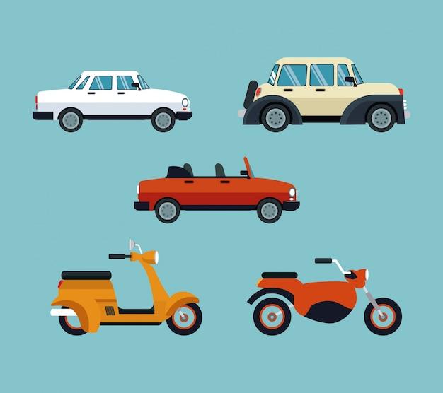 Collectie auto's motorfietsen duur