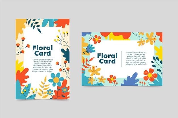 Collectie bloemenkaarten