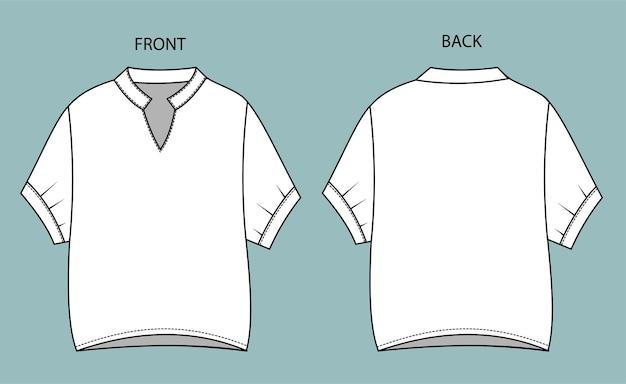 Collectie blouse voor- en achteraanzicht