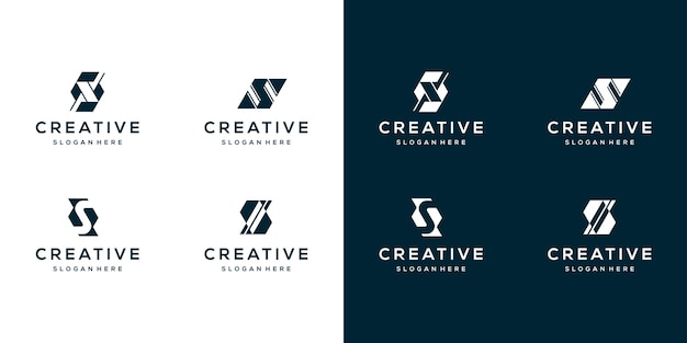 Collectie brief s logo ontwerpsjabloon