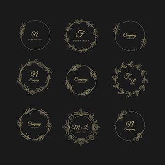 Collectie bruiloft bloemist logo's