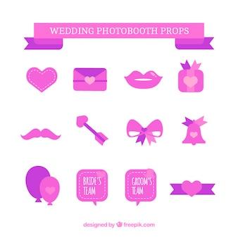 Collectie bruiloft elementen in roze