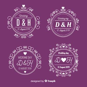 Collectie bruiloft monogram logo's