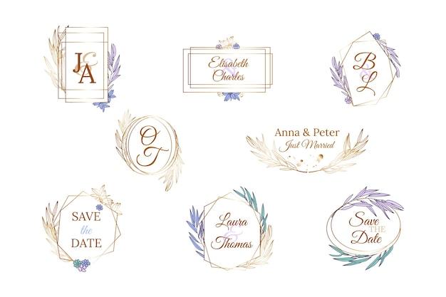 Collectie bruiloft monogrammen