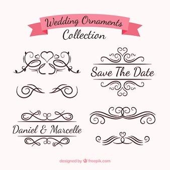 Collectie bruiloft ornamenten