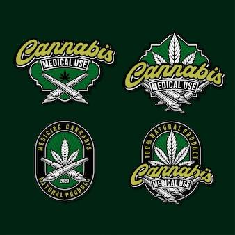 Collectie cannabis-logo's
