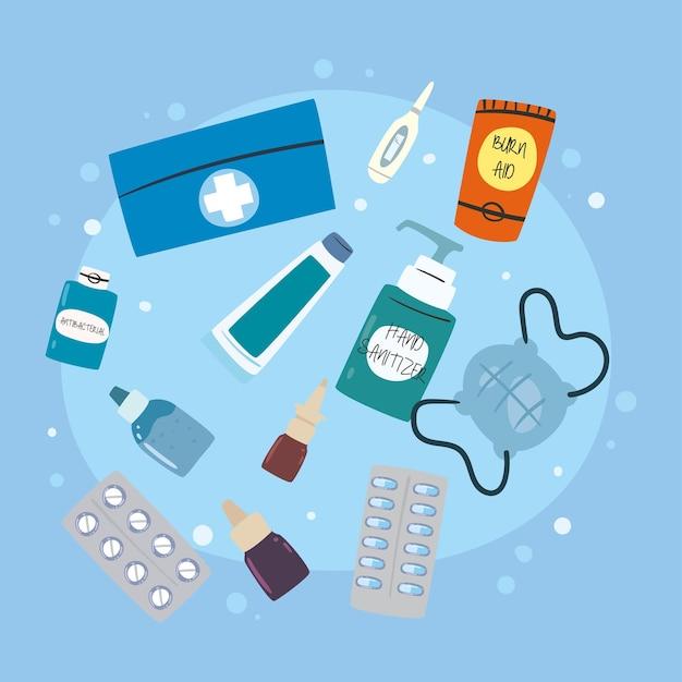 Collectie geneeskunde pictogrammen