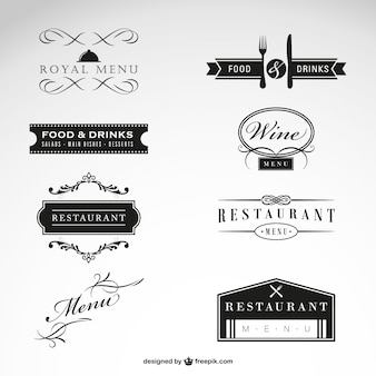 Collectie gratis restaurant vector