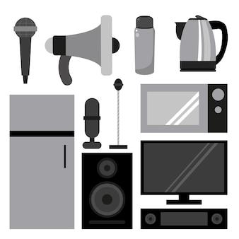 Collectie huishoudelijke apparaten