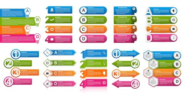 Collectie infographics. vector designelementen.