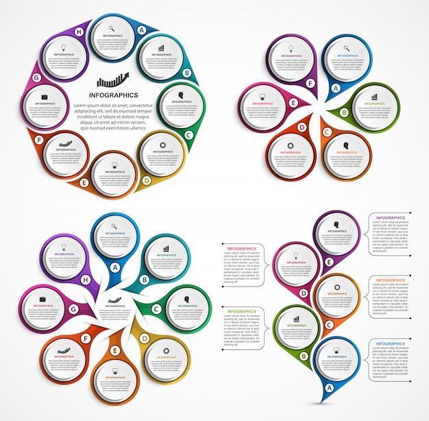 Collectie infographics.