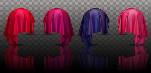 Collectie kleur abstracte doek stof instellen