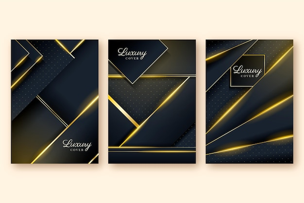 Collectie met gradiënt gouden luxe covers