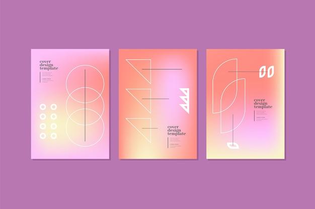Collectie met gradiëntabstracte covers