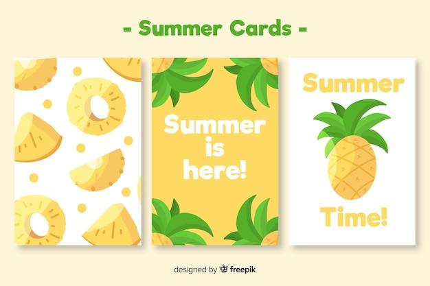 Collectie met zomerkaarten