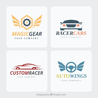 Collectie moderne auto-logo