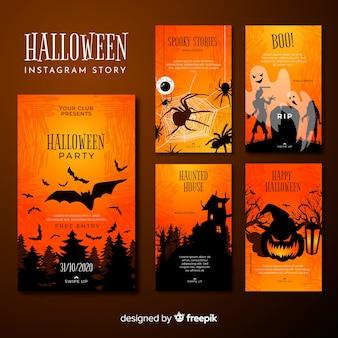 Collectie op halloween instagram-verhalen