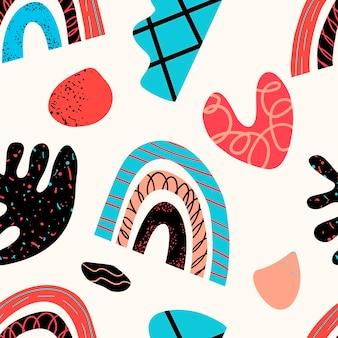 Collectie patronen van decoratieve designelementen met de hand gemaakt in de modieuze scandinavische st scandinavia