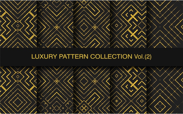 Collectie patroon met geometrische luxe vorm