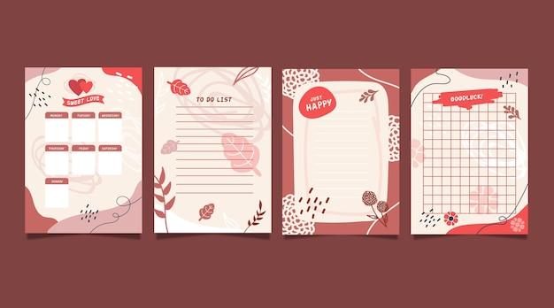 Collectie plakboeknotities en kaarten