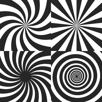 Collectie psychedelische spiraaleffecten