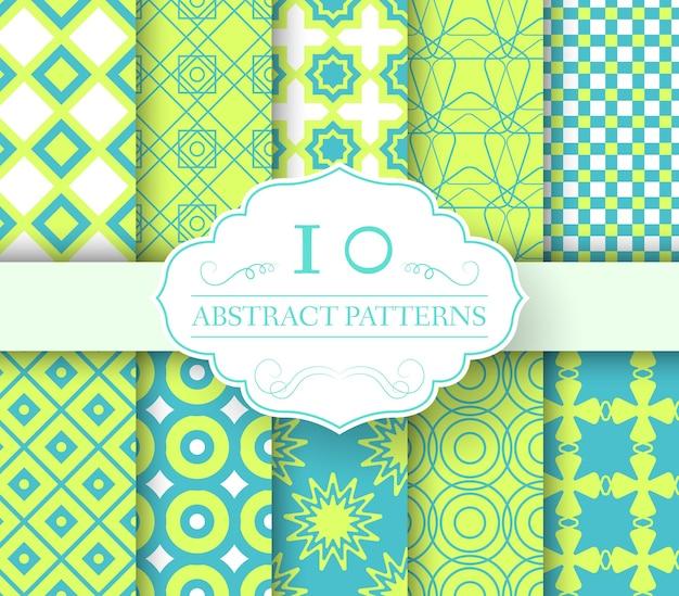 Collectie set abstracte stalen naadloze patroon