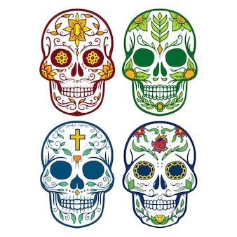 Collectie set van schedel muertos