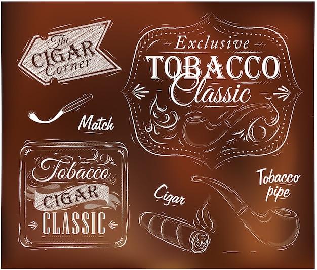 Collectie tabak bruin
