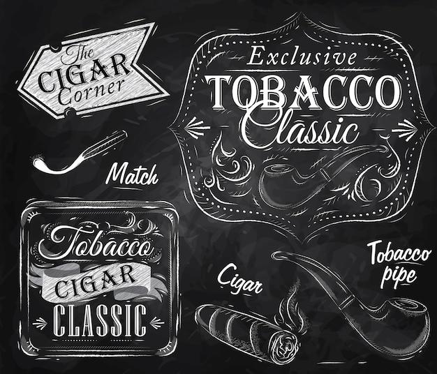 Collectie tabakskrijt