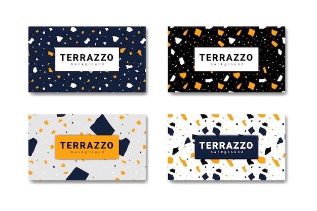 Collectie terrazzo abstracte vloeren