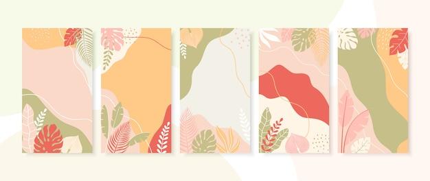 Collectie van abstracte achtergronden met kopie ruimte voor tekst.