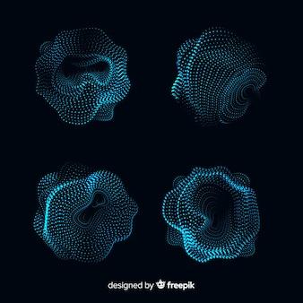 Collectie van abstracte deeltjesvorm