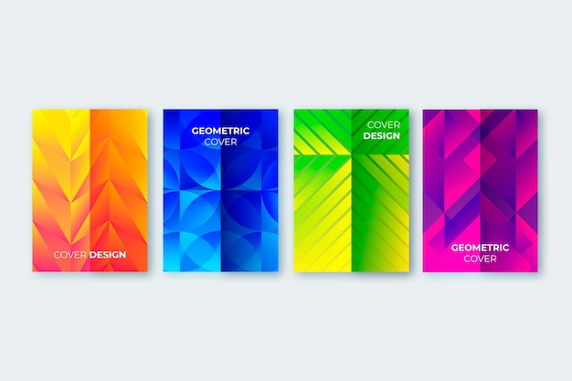 Collectie van abstracte geometrische covers