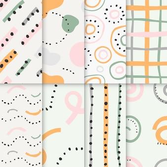 Collectie van abstracte naadloze patronen