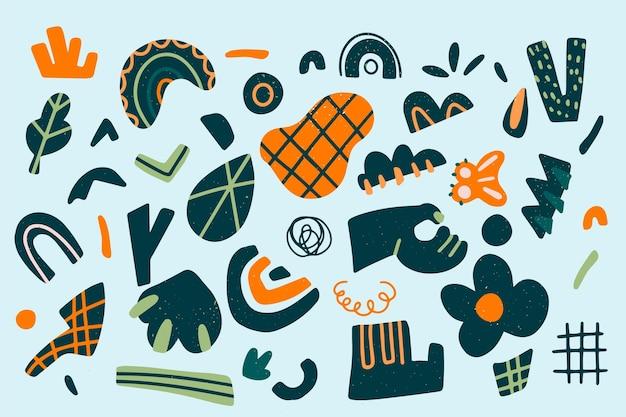 Collectie van abstracte organische vormen