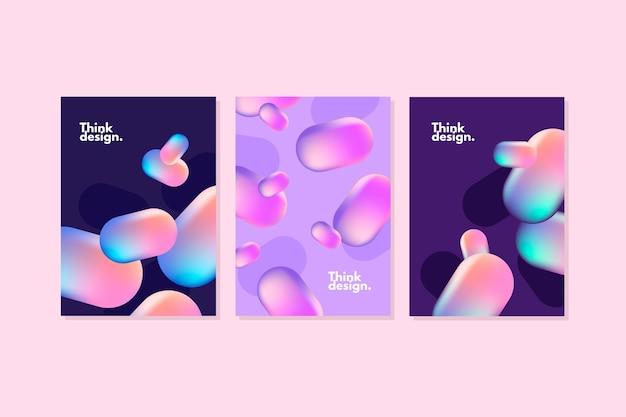 Collectie van abstracte vloeistof covers