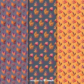 Collectie van aquarel herfst patroon