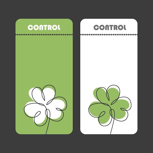 Collectie van banners voor st. patrick day. eenvoudig ticketontwerp. flyers kunnen worden gebruikt voor reclame, feest. groene en witte kleuren