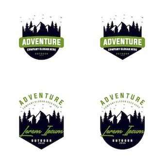 Collectie van berg buiten logo ontwerp